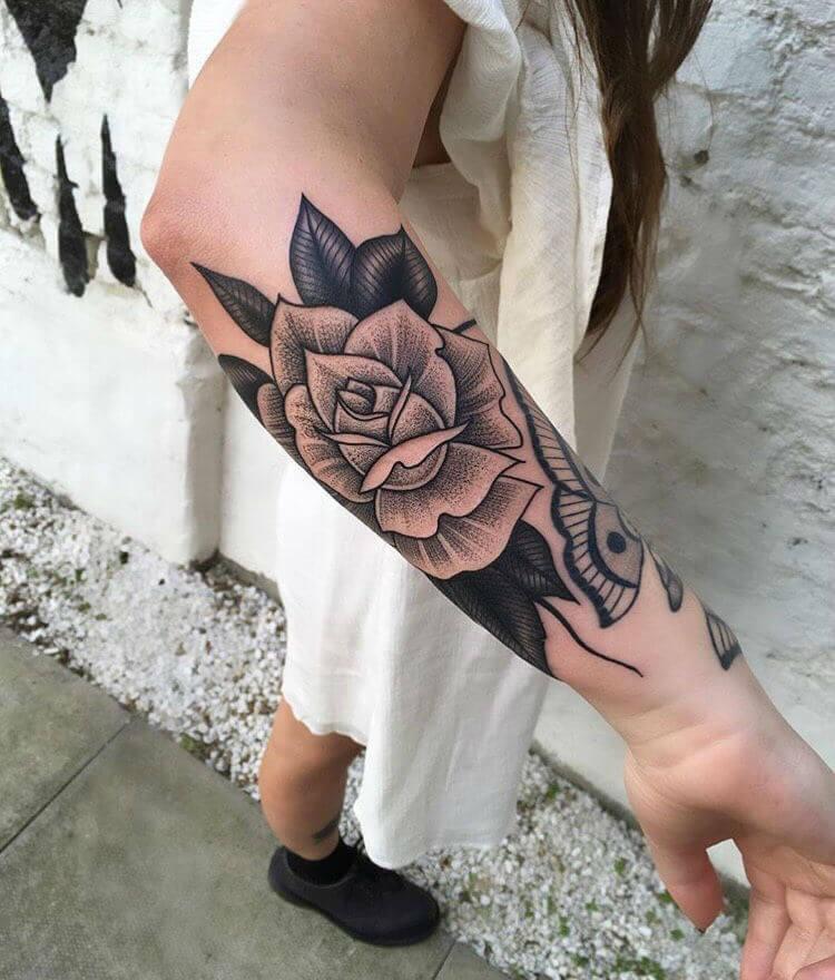 черная роза тату