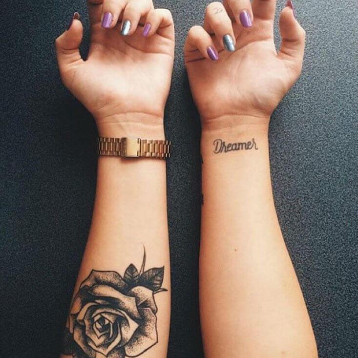 чёрная роза тату