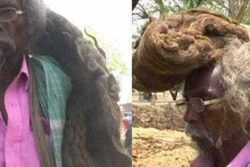 мужчина не мыл волосы 40 лет